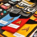 Star Trek tablet covers at one of the stands at Liburnicon 2014.
