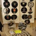 Vinyl record clocks at Liburnicon 2014.