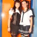 Catgirl and Schoolgirl cosplay