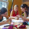 Crocheting the dragons!